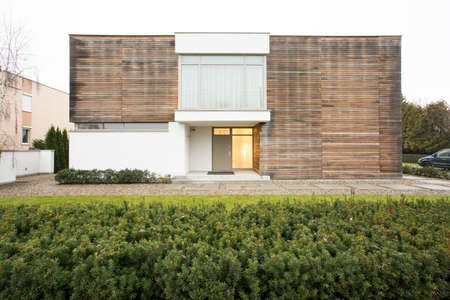 outside house: Horizontal view of house exterior originaly designed