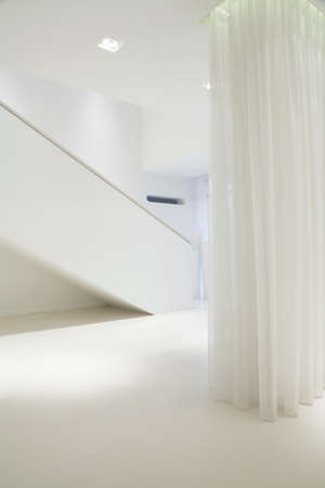 commodious: Pure white interior in exclusive detached house