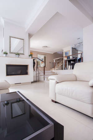 furnish: Image of a cozy living room in luxury villa