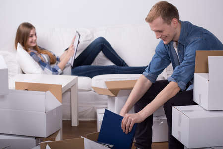 moving out: Young people have a schedule of their moving out