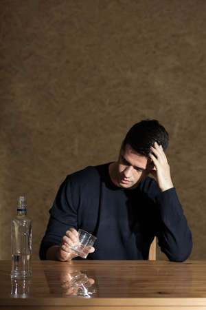 addiction drinking: Problem of alcohol addiction among young people Stock Photo