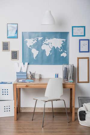 splendid: Splendid nook for doing a homework in childrens room