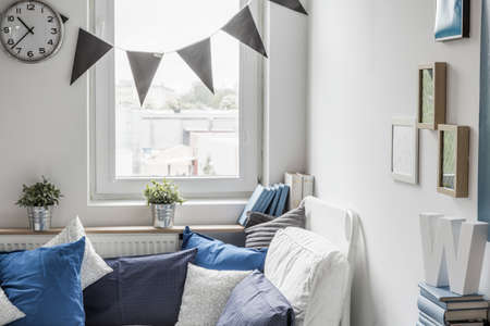 boy bedroom: Cozy bedroom for child with small window