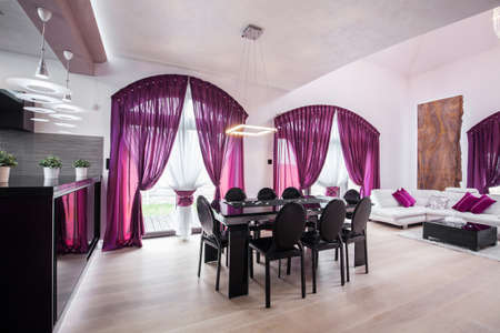 courtain: Modern and elegant first floor in the house