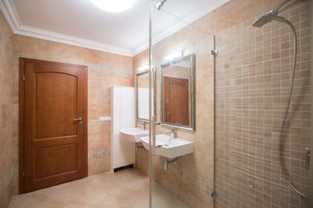 fittings: Photo of modern style bathroom with high quality fittings