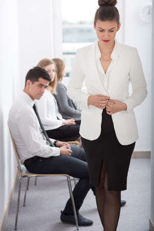 Young sad woman after bad job interview