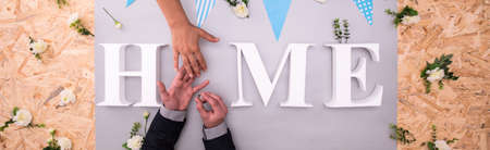 shared: Shared home is very good beginning for a marriage Stock Photo
