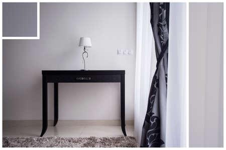 anteroom: Black and white interior in minimalist design