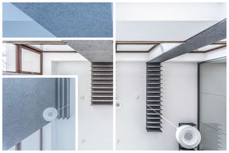 the view from below: Ceiling in modern house - view from below