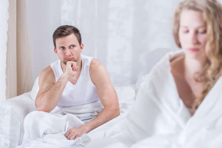 Young couple having crisis in the relationship