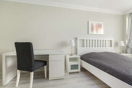 boy bedroom: Horizontal picture of a mainstream bedroom for teenage boy