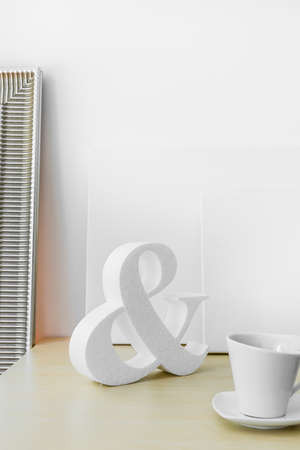 aerodynamic: Picture of trendy white decoration in aerodynamic shape Stock Photo