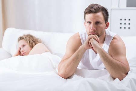marital: Horizontal view of couple having marital problems