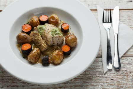 lunch meal: Image of healthy meal ideal for business lunch
