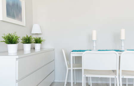 voguish: Image of contemporarily prepared table in dinning room