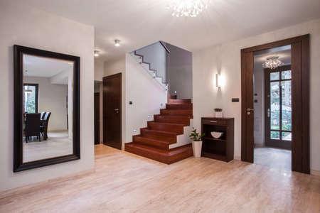 suburbs: Spacious hallway of the house in the suburbs