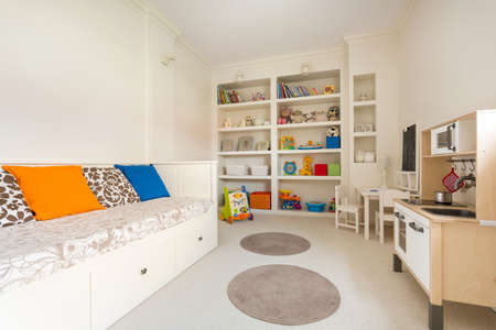 modern interior: Picture of spacious child room in new simple style