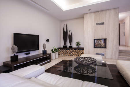 living room sofa: Cozy nook with television in the house