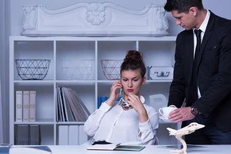 subordinate: Image of confident female boss and her subordinate