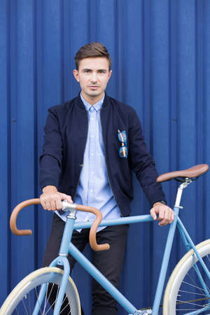 gerente: hombre de negocios joven ecol�gica cuidado del medio ambiente Foto de archivo