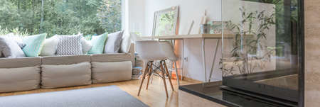 cosy: Panorama of modern style cosy furnished apartment