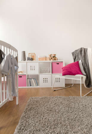 cosy: Image of contemporary cosy toddler girl room