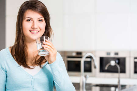 Image of girl drinking fresh cold water