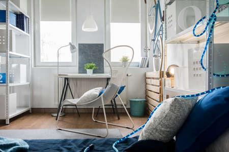 inventive: Small studio flat arrangement with inventive decorations