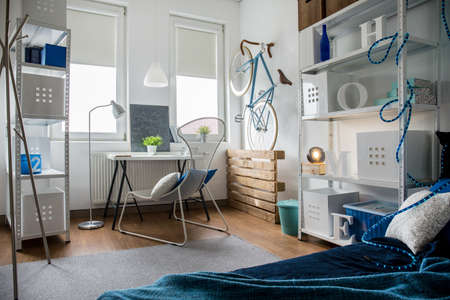 a small house: Picture of small creative studio in flat Stock Photo