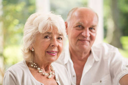 love image: Image of happy smiling elderly couple in love Stock Photo