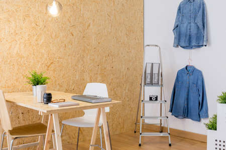 interior designer: Interior of creative studio for young designer