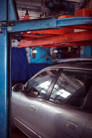 spoilt: Picture showing grey car parked at repair service station