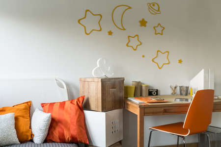 homelike: Close-up of contemporary designed room for teenager