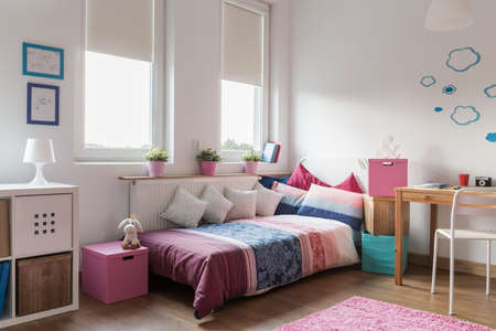 homely: Interior of homely modern room for teenager