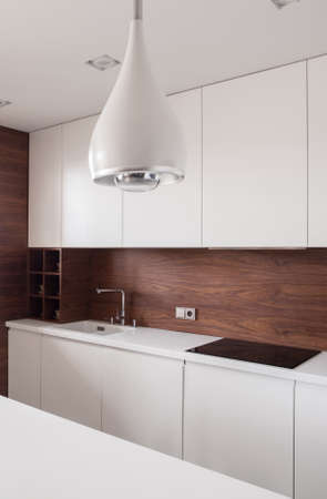 Modern and stylish lamp in the kitchen