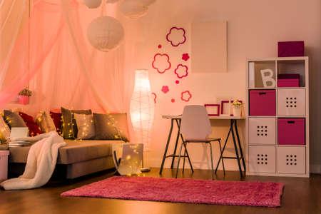 modern girl: Image of stylish comfy interior for princess girl