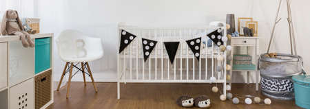bassinet: Bedroom and space to play for little boy