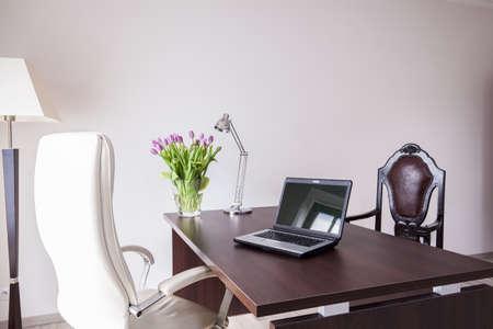 Das moderne und elegante Büro im Haus Standard-Bild - 48143117
