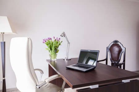 design office: Modern and elegant office in the house