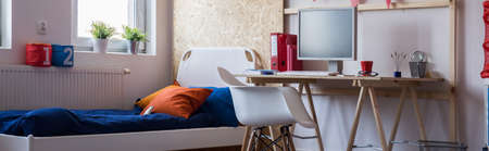 home accessories: Cozy room for a boy in the house Stock Photo