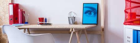 stylish boy: Modern and minimalist desk in a boys room