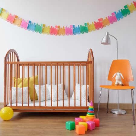 babyboy: Image of modern design colorful newborn room interior