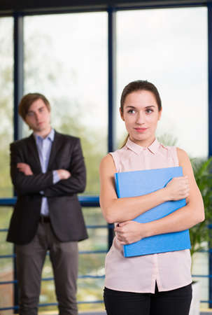 smartly: Picture of male and female employees being smartly dressed