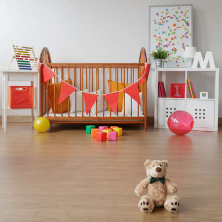 babygirl: Photo of spacious child room interior with toys