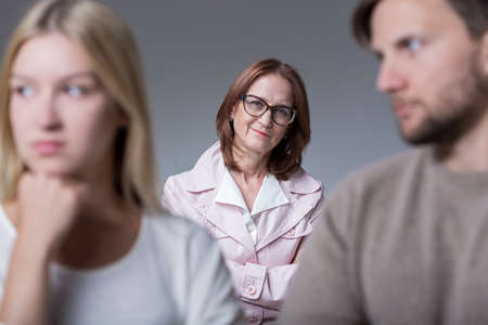 marital: Image of young couple with problems on marital therapy