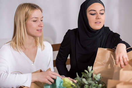 Arabic woman with her friend enjoy time together