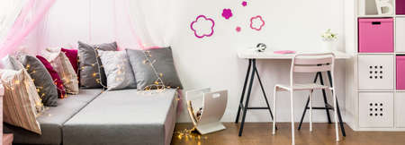 Stylish and pretty room for a girl