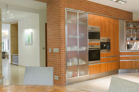 expensive: Kitchen in modern design with expensive euqipment