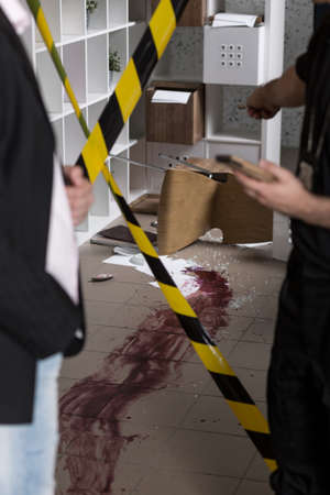 fingerprinting: There is a lot of blood at the crime scene