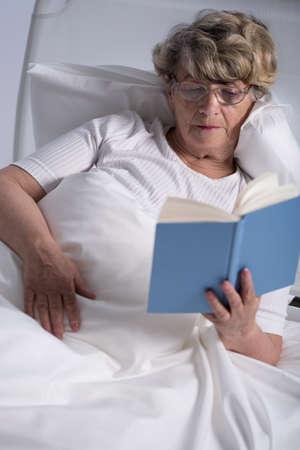 palliative: Image of elderly female patient of geriatric ward Stock Photo